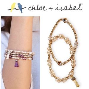 2️⃣Set! 🆕 Beaded Stretch Bracelets GOLD B339GG